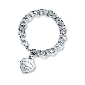 Tiffany & Co Heart Tag Charm Bracelet in Silver